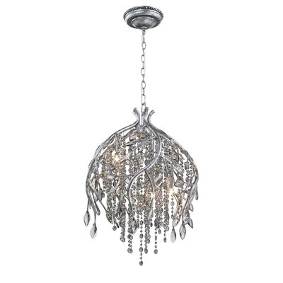 Anneliese 5-Light Crystal Pendant Finish: Mystic Silver