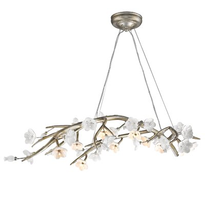 Ashbury 12-Light Kitchen Island Pendant Finish: Silver