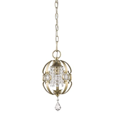 Hardouin 1-Light Foyer Pendant Finish: White Gold