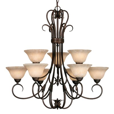 Cleaver 9-Light Shaded Chandelier Finish: Rubbed Bronze