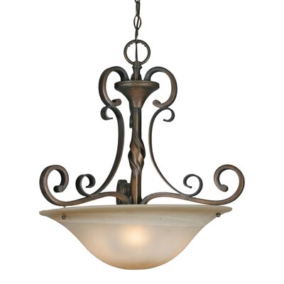 Meridian 3-Light Bowl Inverted Pendant