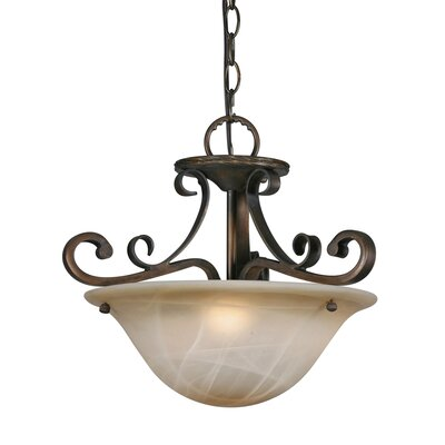 Bertie 3-Light Convertible Inverted Pendant
