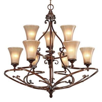 Loretto 9-Light Shaded Chandelier