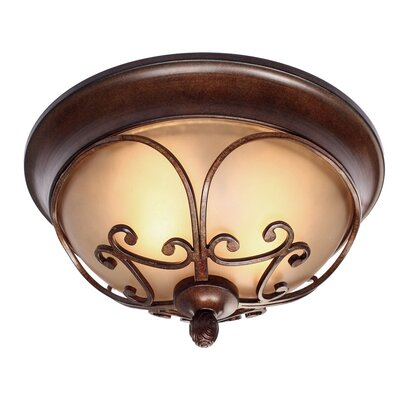 Loretto 2-Lights Flush Mount