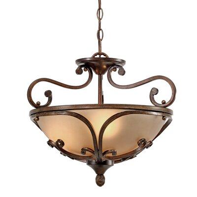 Eisenhauer 3-Lights Convertible Inverted Pendant