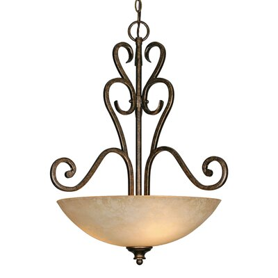 Heartwood 3-Light Bowl Inverted Pendant