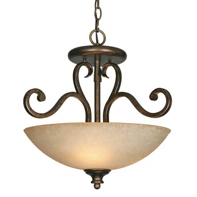 Heartwood 3-Light Convertible Inverted Pendant