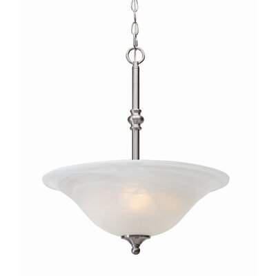 Bruggeman 3-Light Inverted Pendant Finish: Pewter