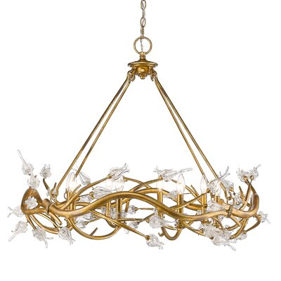 Rosmeer 8-Light Crystal Chandelier