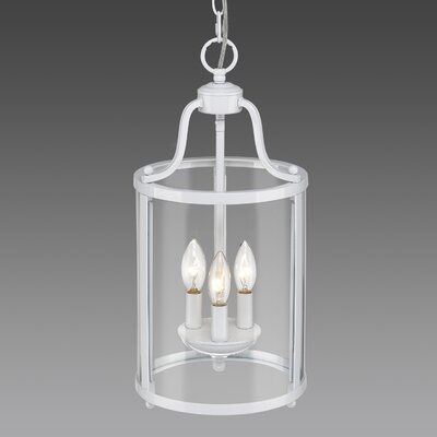 Tessie 3-Light Foyer Pendant Finish: White