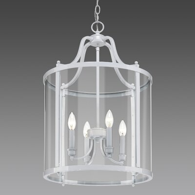 Tessie 4-Light Foyer Pendant Finish: White