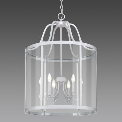 Tessie 6-Light Foyer Pendant Finish: White