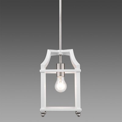Bartley Transitional 1-Light Mini Pendant Finish: White