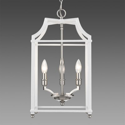 Bartley Transitional 3-Light Foyer Pendant Finish: White