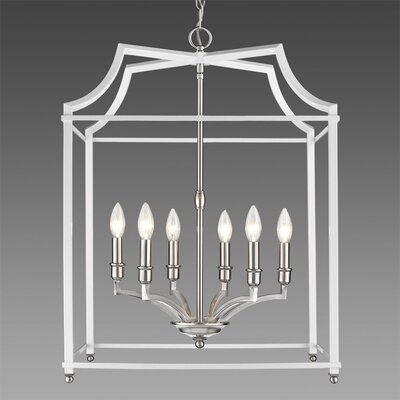 Bartley Transitional 6-Light Foyer Pendant Finish: White