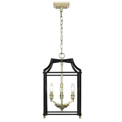 Bartley 3-Light Steel Foyer Pendant Finish: Black
