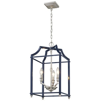 Bartley Transitional 3-Light Foyer Pendant Finish: Navy