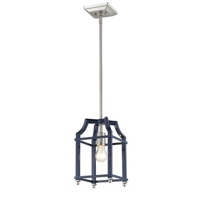 Bartley Transitional 1-Light Mini Pendant Finish: Navy