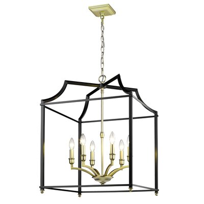 Bartley 6-Light Steel Foyer Pendant Finish: Black