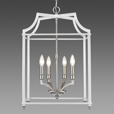 Bartley Transitional 4-Light Foyer Pendant Finish: White