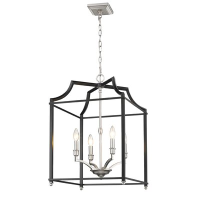 Bartley Transitional 4-Light Foyer Pendant Finish: Black