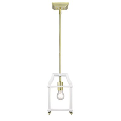 Bartley 1-Light Steel Mini Pendant Finish: White