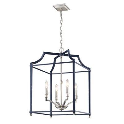 Bartley Transitional 4-Light Foyer Pendant Finish: Navy