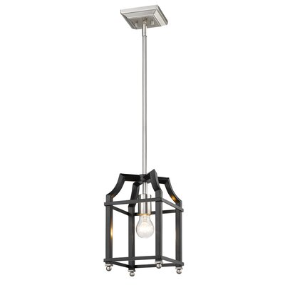 Bartley Transitional 1-Light Mini Pendant Finish: Black