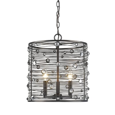 Schiller 3-Light Drum Pendant
