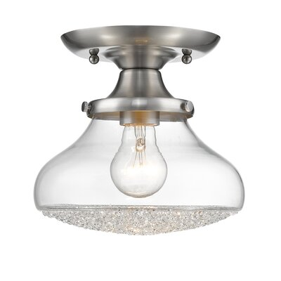 Brycen 1-Light Semi Flush Mount Size: 7.5 H x 8 W x 8 D