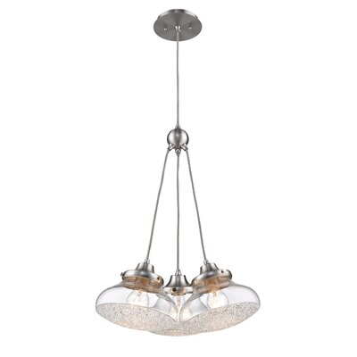 Brycen 3-Light Crystal Pendant