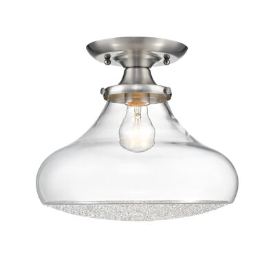 Brycen 1-Light Semi Flush Mount Size: 10.25 H x 12 W x 12 D