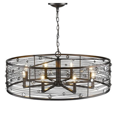 Schiller 8-Light Drum Chandelier