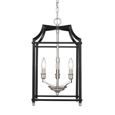 Bartley Transitional 3-Light Foyer Pendant Finish: Black