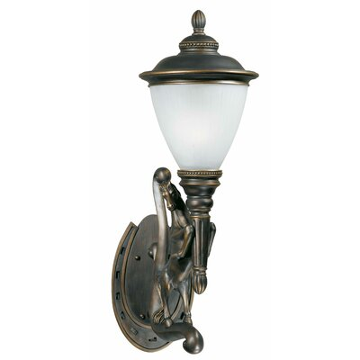 "Triarch Lighting Stallion Outdoor Right Wall Lantern in Oil Rubbed Bronze - Size: 34.5"" H x 13.5"" W x 15.5"" D at Sears.com"
