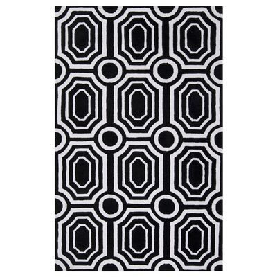 Dylan Black Area Rug Rug Size: Rectangle 2 x 3