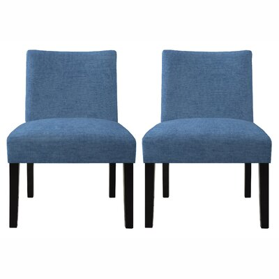 Bradstreet Upholstered Side Chair Finish: Ocean Blue