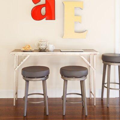 30.5 Swivel Bar Stool Seat Color: Gray