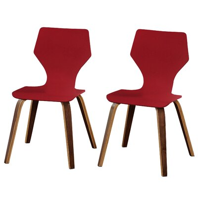 Luff Side Chair Finish: Red