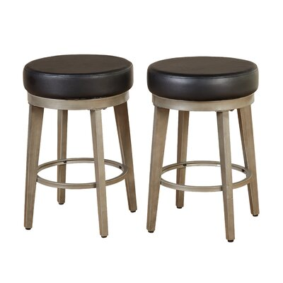 24.5 Swivel Bar Stool Seat Color: Black