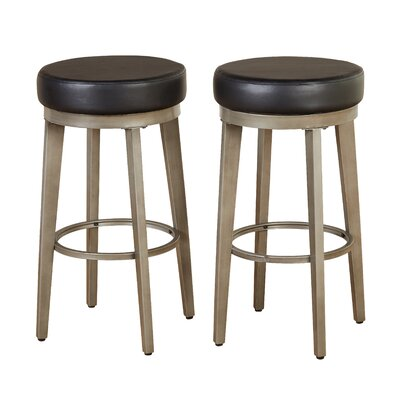 30.5 Swivel Bar Stool Seat Color: Black