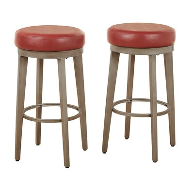 30.5 Swivel Bar Stool Seat Color: Red
