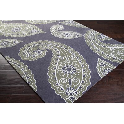 Hudson Park Turtle Green/Charcoal Gray Area Rug Rug Size: Rectangle 5 x 76
