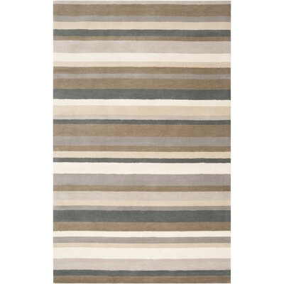 Madison Square Caper Green/Brown Area Rug Rug Size: Rectangle 5 x 76