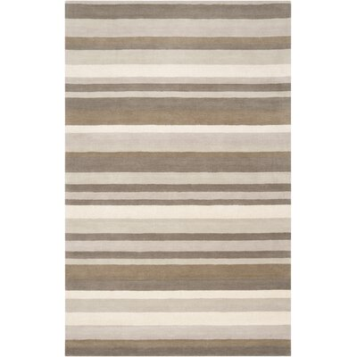 Madison Square Brindle Brown & Tan Area Rug Rug Size: 2' x 3'