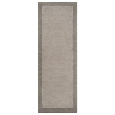 Madison Square Pewter/Flint Gray Area Rug Rug Size: Runner 26 x 8