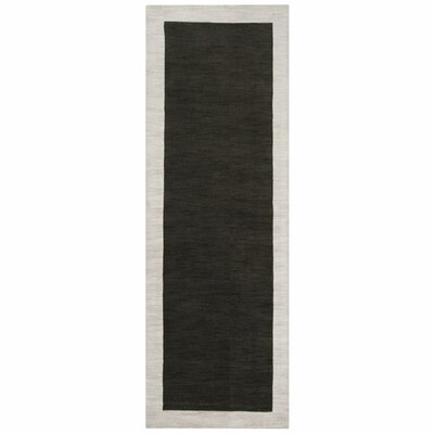 Madison Square Coal Black/Oatmeal Area Rug Rug Size: Runner 26 x 8