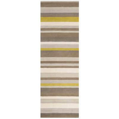 Madison Square Green/Yellow Area Rug Rug Size: Runner 26 x 8