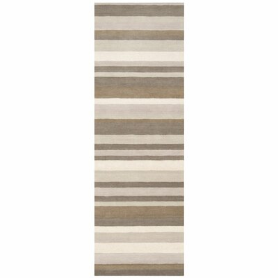 Madison Square Brindle Brown & Tan Area Rug Rug Size: Runner 2'6