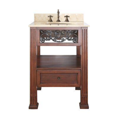 Napa 25 Single Bathroom Vanity Set Top Finish: Natural Galala Beige